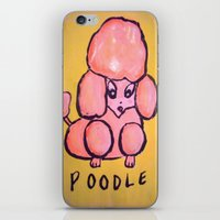 poodle iPhone & iPod Skins featuring poodle by helendeer