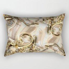 GOLD SWIRLS Rectangular Pillow