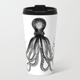 Octopus | Black and White Travel Mug