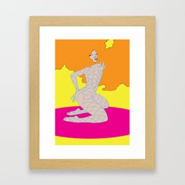 iam not bad iam just drawn that way  Framed Art Print