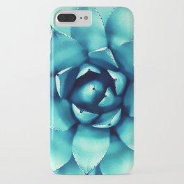 Macro Turquoise Plant iPhone Case