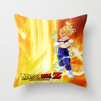 vegeta Throw Pillows featuring Vegeta Dragonball Z best idea by customgift