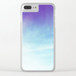 Hopeful Skies Clear iPhone Case