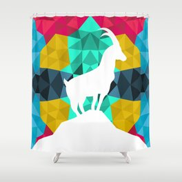 Origami Goat Shower Curtain