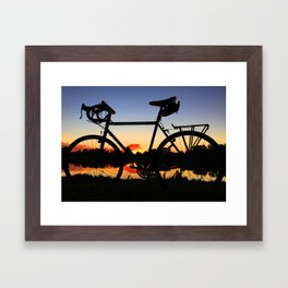 Colorado Flag Bike Framed Art Print