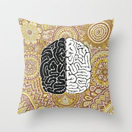 Big Brain ! Throw Pillow