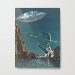 Planet Pin-Up Metal Print