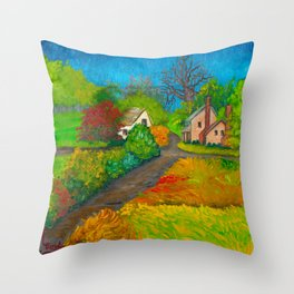 Starr From the Upstairs Window Throw Pillow