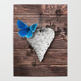 Heart on Wood Poster
