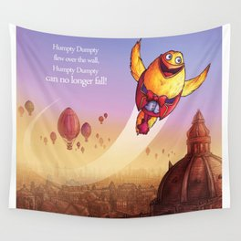 """Humpty Dumpty"" Page Sample 2 (Mother Goose Retold-Trumble Book) Wall Tapestry"