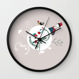 The other side of the world Wall Clock