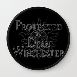 Protected by Dean Winchester Wall Clock