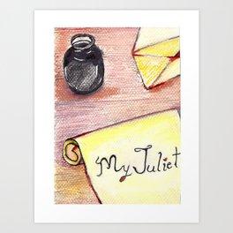 Romeo's Letter Art Print