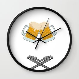 Pipefitter Funny Job Fit Pipes For Beer Gift Wall Clock