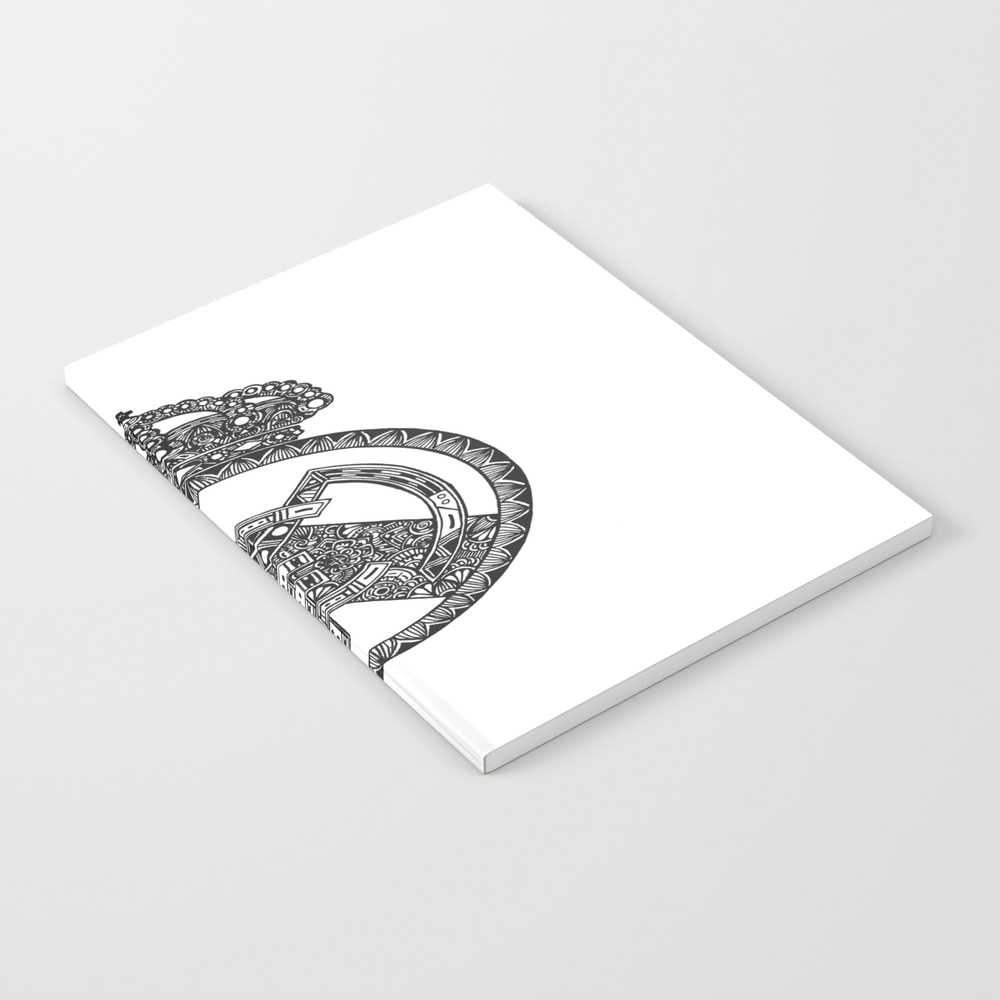 Real Madrid Logo Doodle Notebook by Dede_superman NBK8835254