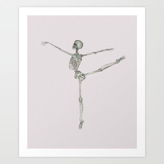 Ballerina Skeleton in Arabesque: Ballet lover Gift by ossuariumfloreus