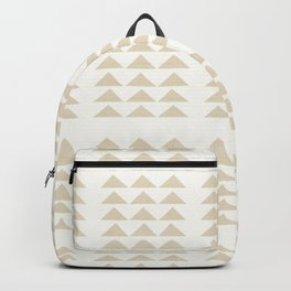 Tribal Triangles in Tan Backpack