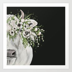 Fancy the Cow Art Print