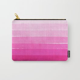 Luca - Ombre Brushstroke, pink girly trend art print and phone case for young trendy girls Carry-All Pouch
