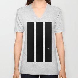 BLACK AND WHITE STRIPES #black #white #stripes #minimal #art #design #kirovair #buyart #decor #home Unisex V-Neck