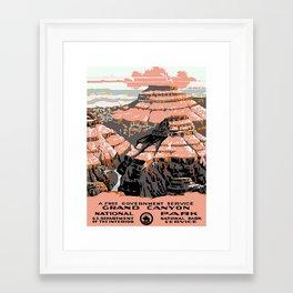 Vintage poster - Grand Canyon Framed Art Print