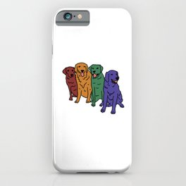 Rainbow Dogs iPhone Case