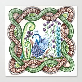 Bird in Celtic Knot Canvas Print
