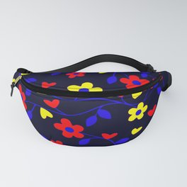 Polyamory Pride Simple Flowers and Vines Pattern Fanny Pack