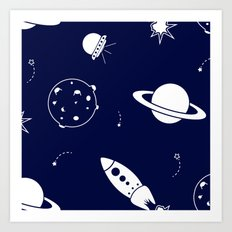 Space design Art Print