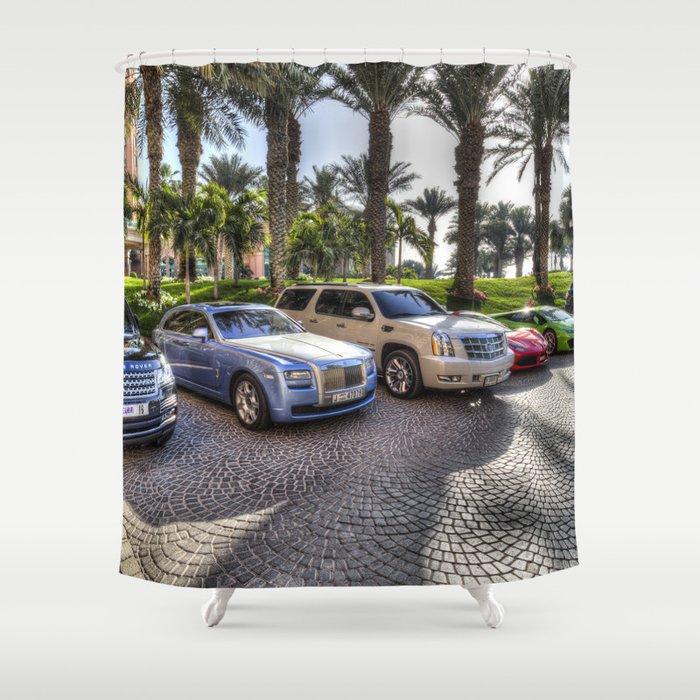 Luxury Cars Dubai Shower Curtain By Davidpyatt Society6