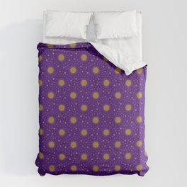 Astrological Purple Stars and Sun Duvet Cover