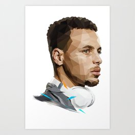 Curry low poly Art Print