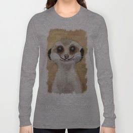 Meerkat 'Stache II Long Sleeve T-shirt
