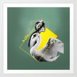 Leda & The Swan. Art Print