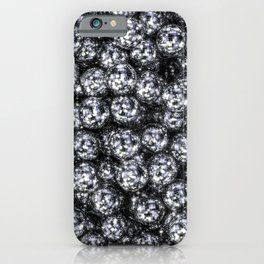 It's Full of Disco / 3D render of hundreds of shiny mirror balls iPhone Case