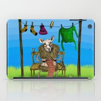 sheep iPad Cases featuring Sheep by Anna Shell