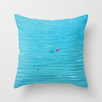 pool Throw Pillows featuring Pool by AlexinaRose