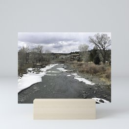 Downtown Pagosa Springs From the River Mini Art Print