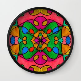 Abstract Doodle Pattern Wall Clock