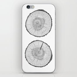 Double tree rings iPhone Skin