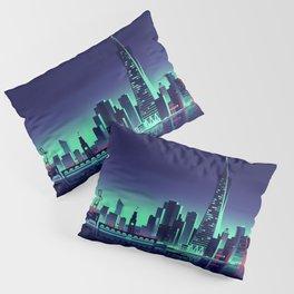 San Francisco minimal nightscapes artwork USA America creative abstract cityscapes Pillow Sham