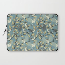 Golden-crowned Kinglets in a Pussy Willow (Dawn) Laptop Sleeve
