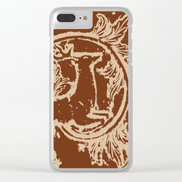 Chocolate Asheville Stags a Leaping Clear iPhone Case
