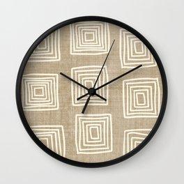 Labyrinth in Tan Wall Clock