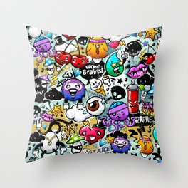 graffiti fun Throw Pillow