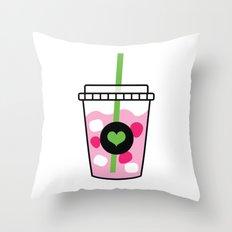 Pink Drink Throw Pillow