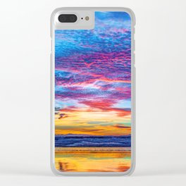 Solstice sunset at Newport Pier Clear iPhone Case