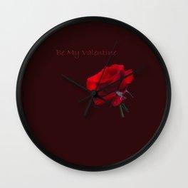 Be My Valentine Wall Clock