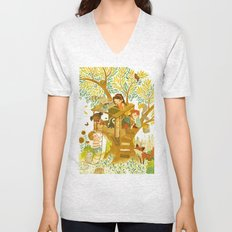 Our House In the Woods Unisex V-Neck