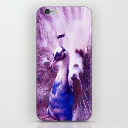 White Purple Peacock iPhone Skin